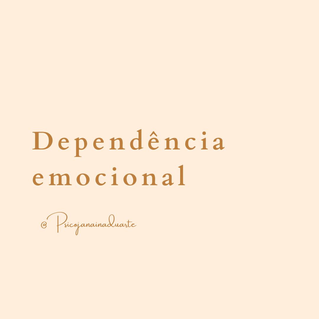 Dependência emocional