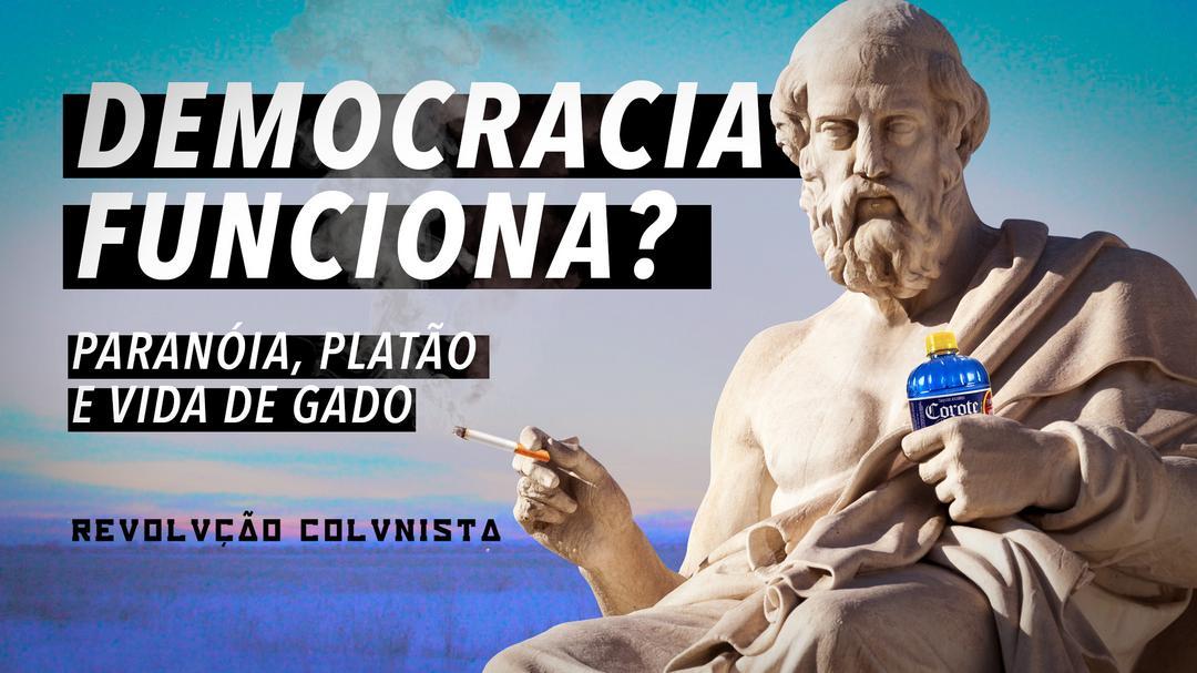 DEMOCRACIA FUNCIONA? Paranóia, Platão e Vida de Gado.